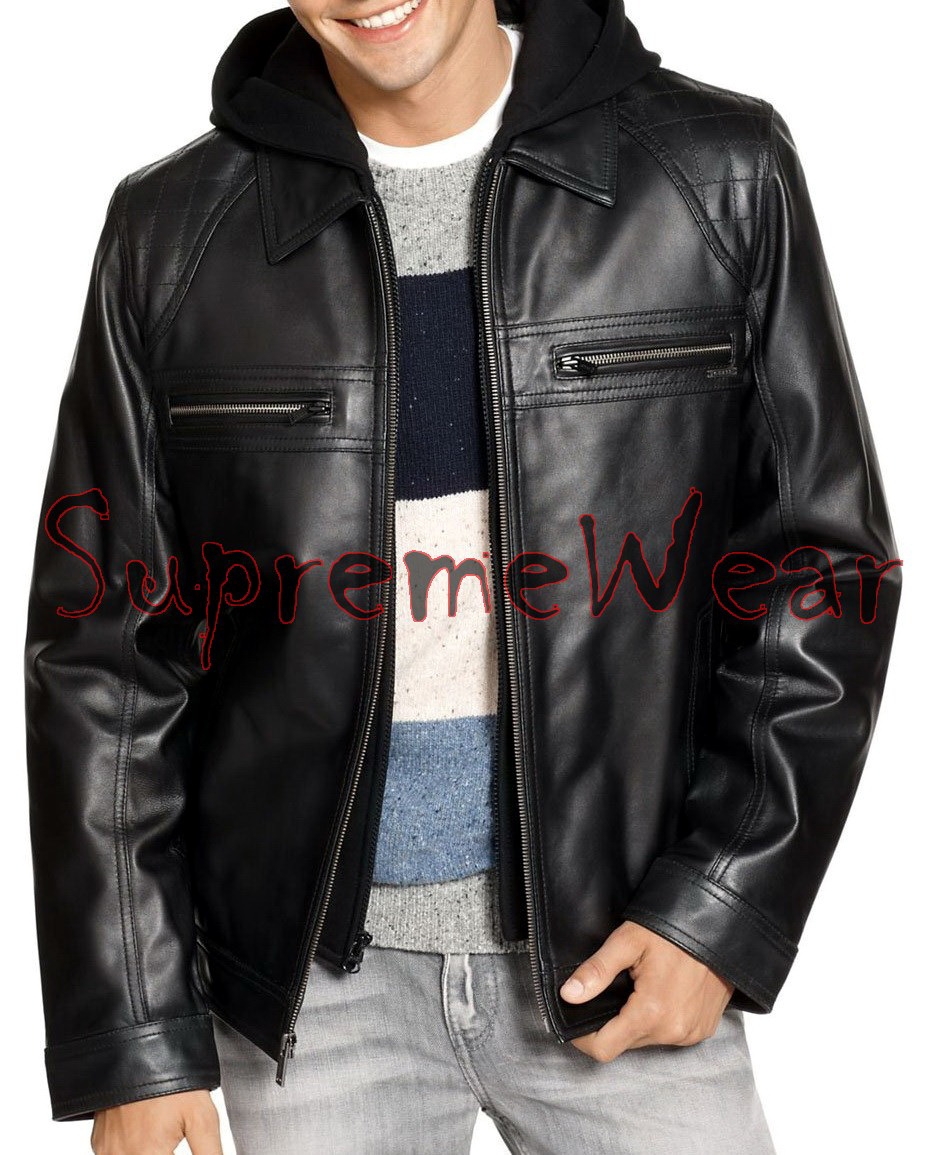 Handmade New Men Stylish Classic Quilted Shoulder Style Leather